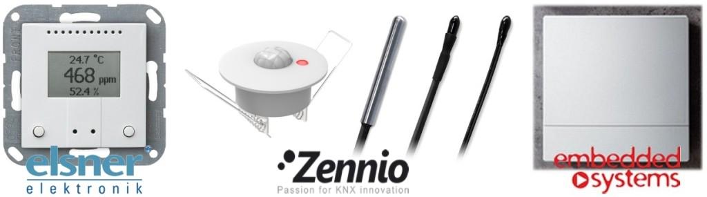 KNX temperature sensors